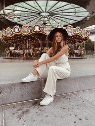 K-laa White - Zara Pant, Zara Crop Top, Vans Old School Platform - New york dreaming