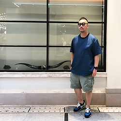 Mannix Lo - Gu Denim Pocket Tee, Uniqlo Cargo Shorts, Undercover X Nike Daybreak Sneakers - Nothing can kill you more than your own thoughts