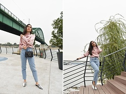 Jelena Dimić - Shein Silky Blouse, Aliexpress Bag, Zara High Waist Jeans, Shein Two Toned Flats - I can't hold your heart while I'm fixing mine