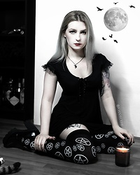 Joan Wolfie - Widow Dress, Dolls Kill Stockings - DEADLOCK DOLL // Joan Wolfie