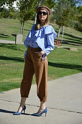 Elisabeth Green - Dearlover Blouse, Zara Jeans, Zara Stilettos - Stripes and Slouchy