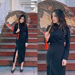Jiafeng Li -  - Black Chinesedress