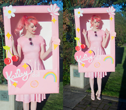 Kailey Flyte - Diy Pink Dress, Asos Glitter Cat Eye Sunglasses, Luxury Rebel Strappy Heels - The Kailey Fashion Doll