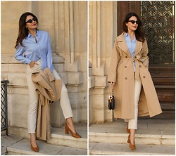 Edisa Shahini - Mango Shirt, Na Kd Trench, H&M Jeans - THE OXFORD SHIRT
