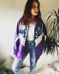 Christine Morrison - Vintage Jacket - Purple.