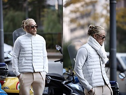 INWON LEE - Byther Wellon Padded Vest, Byther Slacks Pants - White Goose Down Vest