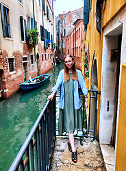 Karina Bogdan - H&M Shirt, Mango Dress, Sasha Shoes Sandals, Accessorize Hair Clips, Furla Bag, Ace& Tate Glasses - Venice