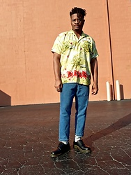 Jason - Dr. Martens, Asos Cropped Denim - Floral Autumn