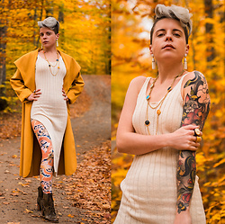 Carolyn W - Femme Luxe Mustard, Femme Luxe Knit, Black Milk Clothing Dragons, Grand Tour Collection Classical - Matching Yellows