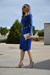 Elisabeth Green - Dearlover Dress - Buttoned Blue Dress