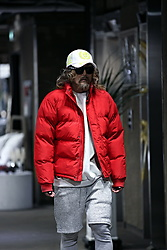 INWON LEE - Byther Hat, Byther Daily Colorful Short Goose Down Jacket, Byther Shorts Layered Leggings Pants - Red Puffer jacket Keep You Warm