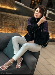 Isabel Alexander - Bershka, Tony Bianco - White pants with cute jacket