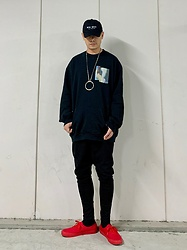 ★masaki★ - Kollaps New Wave, Komakino Sweater, Asos Dropchrotch, Vans Authentic - Simple Fits