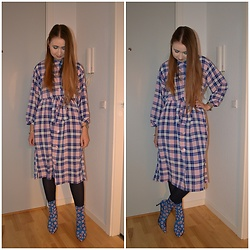 Mucha Lucha - Monki Dress, Zara Boots - Dress and boots combo