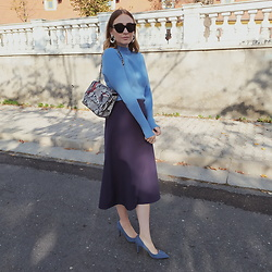 Tímea C - Asos Skirt - Shades of blue