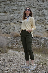 Elisabeth Green - Dearlover Sweater, Femmeluxe Pants - Lemon and Khaki