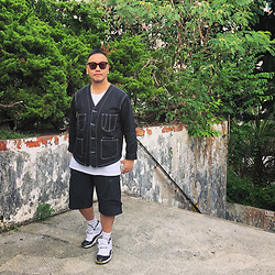 Mannix Lo - Online Shop Stitching Denim Jacket, Cotton On Tee, Nike Shorts, Nike Air Jordan 11 Sneakers - Make today count because you will never get it back