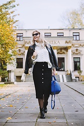Aleksandra Siara - Shein Skirt - Tweed black skirt