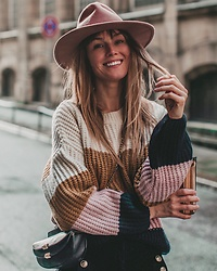 Vicky W - Hat, Mango Knit Sweater - Heavy Knits