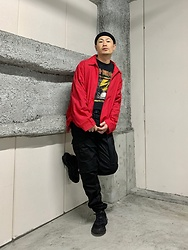 ★masaki★ - Dickies Vintage Jacket, Bad Brains Bandtee, Rothco Cargo Pants, Adidas Ozweego - ⚡️Bad Brains⚡️