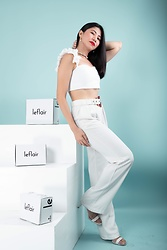 Cassey Cakes - Mango Trousers, Mango Sandals - Le Flair Campaign
