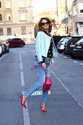 Butterfly Petty - Michael Kors Bag, Mango Shoes, Zara Shirt, Lee Cooper Jeans, Zaful Jacket - Dots and colors
