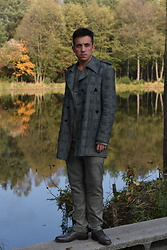Pawel - Nudie Jeans Coat, G Star Raw Shoes - Plaid coat and pants.