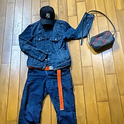 Gorbinzshe Gorbinzshe - Levi's® Jacket, Levi's® Jeans, Vivienne Westwood Bag, New Era Cap - Denim boy love Yankees