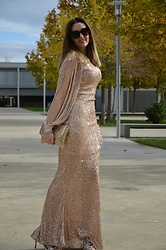 Elisabeth Green - Dearlover Dress - Shine in Gold Dress