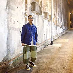 Mannix Lo - Zara Coverall, Cotton On Tee, Online Shop Patchwork Cargo Pants, Converse Chuck Taylor All Star 70 Sneakers - Before you give up, think about why you held on for so long