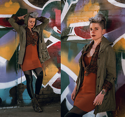 Carolyn W - Olive, Plaid, Femme Luxe Rust, Black Milk Clothing Spartans, Old - New Graffiti