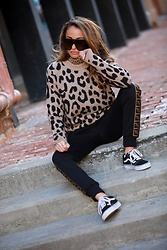 Lauren Recchia - Fendi Track Pants, J. Crew Creckneck Sweater, J. Crew Tissue Turtleneck, Vans Sneakers - Animal Instincts