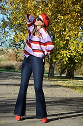 Elisabeth Green - Rosegal Sweater, Femmeluxe Jeans - Striped Sweater