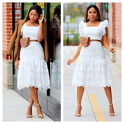 TOMGFASHION COM - Tomgfashion Ruffle Hem Lace Dress - RUFFLE-HEM LACE DRESS