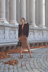 Claudia Villanueva - Shein Blazer, Femme Luxe Dress, Shein Bag, Missguided Sandals - Nudity