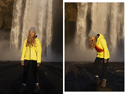 Ewa Michalik - Aura Jacket, Reserved Leggings - Skógafoss, Iceland