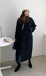 Miamiyu K - Miamasvin Double Breasted Woolen Long Coat - Urbanlike