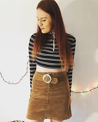 Christine Morrison - Vintage Brown Velvet Skirt - Winter.