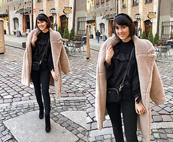Daisyline . - Zara Blouse, Reserved Coat - Teddy bear coat / IG: daisylineblog