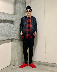 ★masaki★ - Vans Authentic - Black & Red