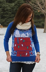 Lindsey Puls - Peanuts Christmas Sweater - Snoopy Christmas Sweater