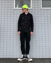 ★masaki★ - Obey Micro Beanie, Neuw Denim Jacket, Neuw Denim Jeans, Converse Ct70 - Neuw Denim