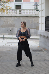 Claudia Villanueva - Femme Luxe Top, Asos Pants, Zara Bag, Zara Boots - Top Organza