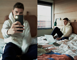 Andreas Sundbom - Uniforms For The Dedicated Hoodie, Lacoste Sweatpants, Nudient Iphone Case - Cozy hotel wednesday
