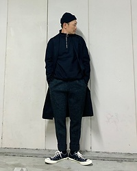 ★masaki★ - Neuw Denim Coat, Converse Ct70 - Black Outfit