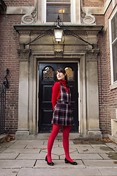 Carolina Pinglo -  - Red Sweater and Plaid