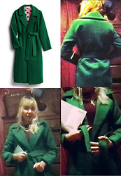 Serena Toxicat - Katie Sturino Colten Structured Robe Coat - Tis the Season to be Green