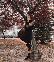 Christy Jaldori - Lbd.Gr Dress, Bozikis Boots - It's not her beauty.Its her vibe.