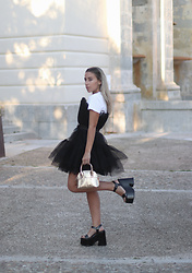 Claudia Villanueva - Shein Dress, Zara Bag, Yellowshop Sandals - Black Ballerina