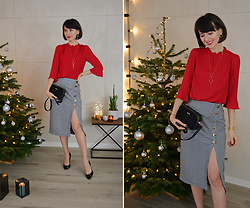 Daisyline . - Oasis Blouse, 4th & Reckless Skirt - My holiday look / IG: daisylineblog